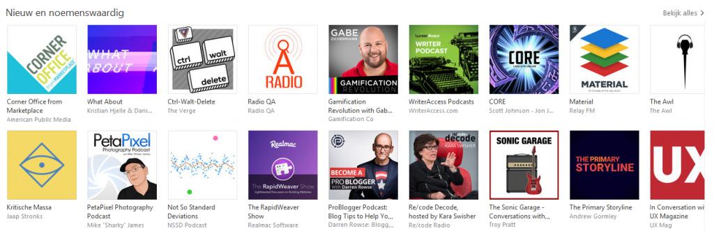 iTunes nieuw en noemenswaardig